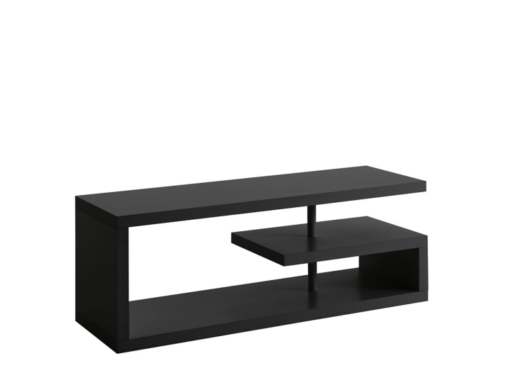 meuble tv hifi noir fly. Black Bedroom Furniture Sets. Home Design Ideas