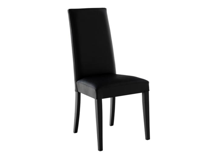 chaise en croute de cuir et hetre noire fly