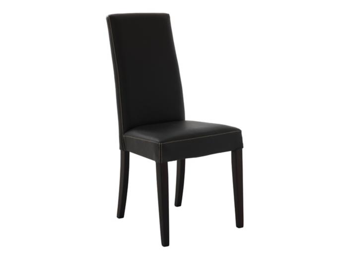 chaise en croute de cuir et hetre marron wenge fly. Black Bedroom Furniture Sets. Home Design Ideas