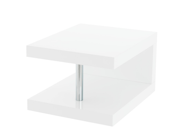 Table chevet blanc brillant fly - Lampe de chevet chez fly ...
