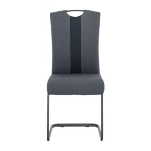 Chaise coque antrhacite pieds acier coloris noir fly for Chaise noir fly