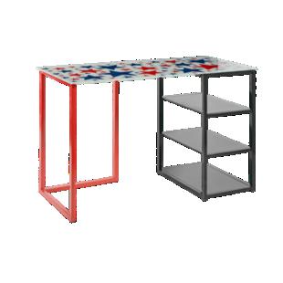 bureau plateau verre blanc bureau bureau meuble fly. Black Bedroom Furniture Sets. Home Design Ideas