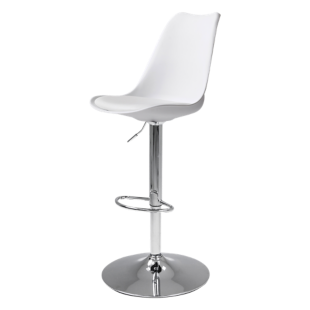 Tabouret de bar assise pu choco fly - Tabouret bar transparent fly ...