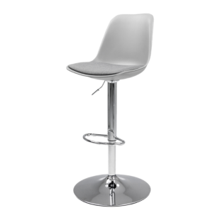 Chaise blanche fly - Tabouret bar transparent fly ...