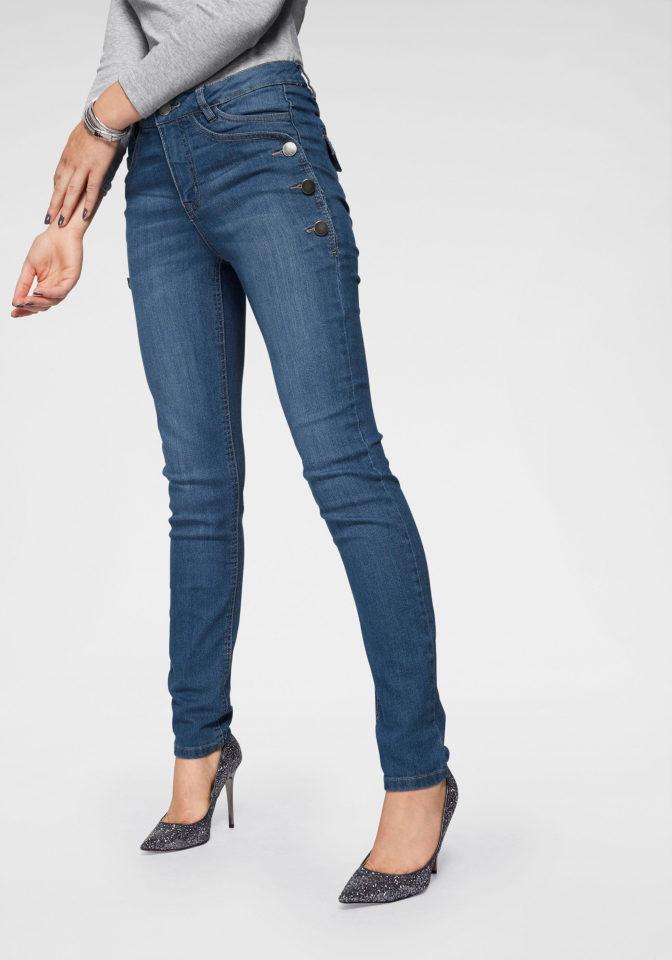 Aukštu liemeniu džinsai