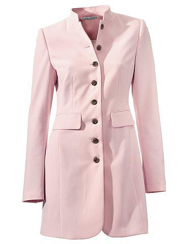 Пиджак длинный с воротник стойка