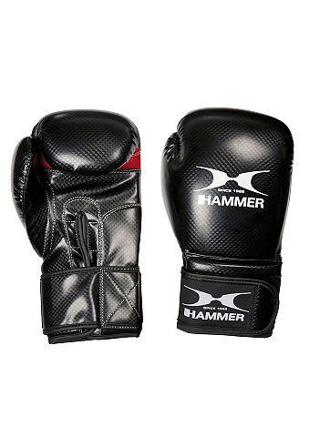 Боксерские перчатки PU черно/красный &...