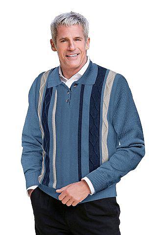 Пуловер поло с пуговицы
