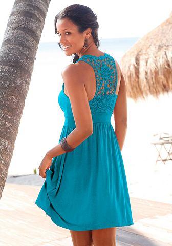 Платье пляжное с кружевом