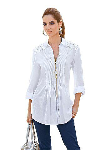Блуза с легко gerundetem Saumabschluss...