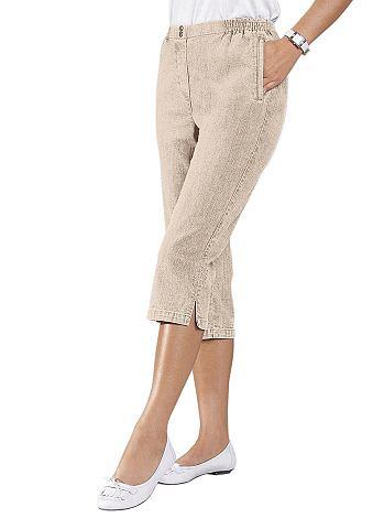 Капри-джинсы с bequemem широкая талия