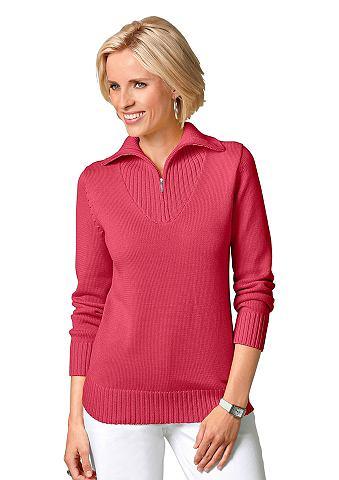 Пуловер с sportivem Troyerkragen