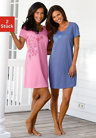 Dreams ночные рубашки (2 единицы с цветочным узором