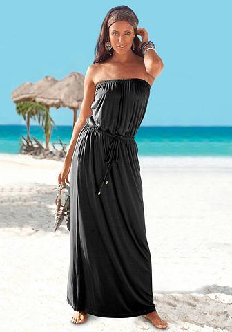 Длиннoe платье без бретелек