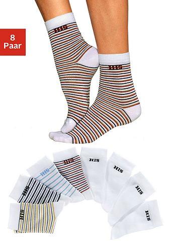 Носки (8 пар) полосатый и универса́льн...