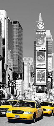 Обои для двери »NYC Times square...
