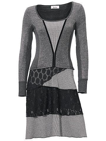 Платье со вставками с кружева