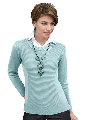 Пуловер с gewebten вставка на футболка...