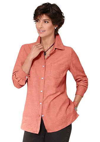 Блуза в мягкий angerauter с фланельи