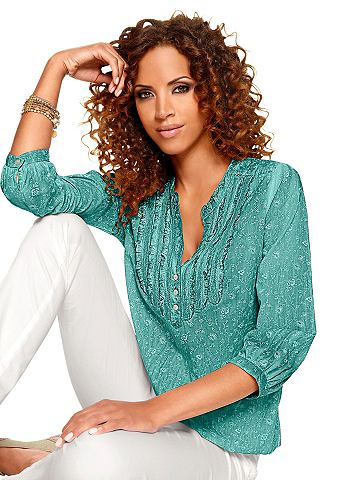 Блуза с сдержанный цветочным узором