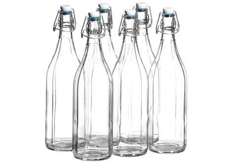 Стеклянная бутылка с керамическая проб...