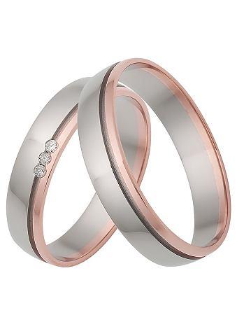Обручальное кольцо bicolor