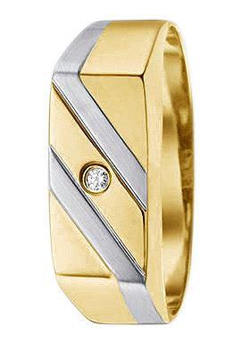 Кольцо с бриллиант в Siegelring-Optik