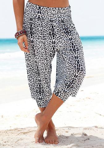Брюки-шаровары с леопардовый узор