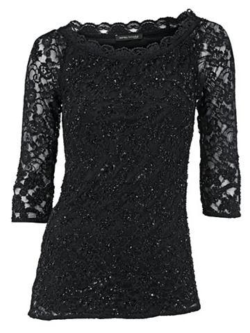 Блуза в стиле кармен с пайетками