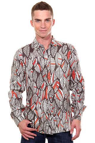 Рубашка с длинными рукавами узкий форм...