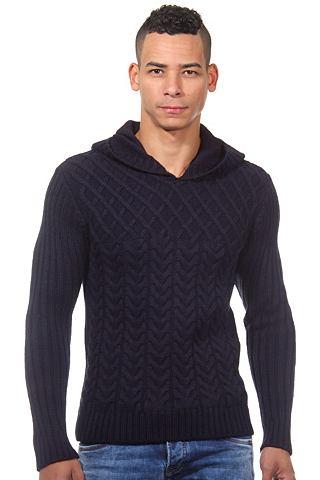Пуловер с капюшоном узкий форма