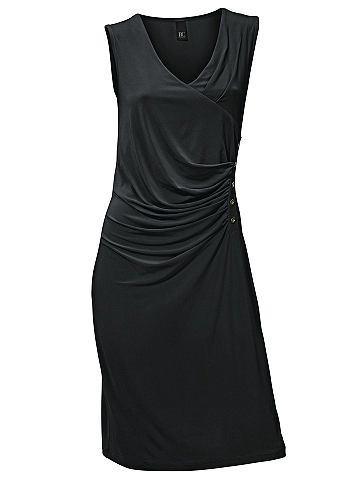 Платье из джерси с боковой с драпировк...