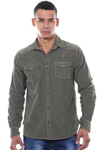 Рубашка с длинными рукавами regular фо...