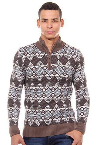 Пуловер воротник стойка узкий форма
