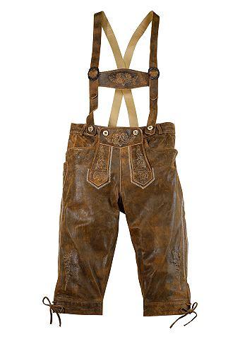 Herren брюки кожаные 3/4 с традиционны...