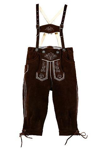 Kinder брюки кожаные с окантовка