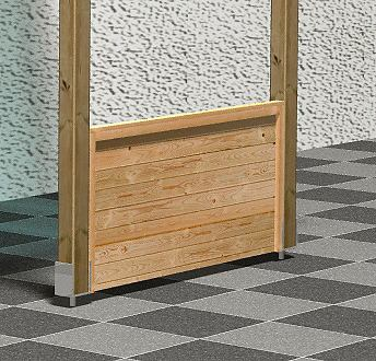 KARIBU Парапет »Eco« BxH: 180 x 8...