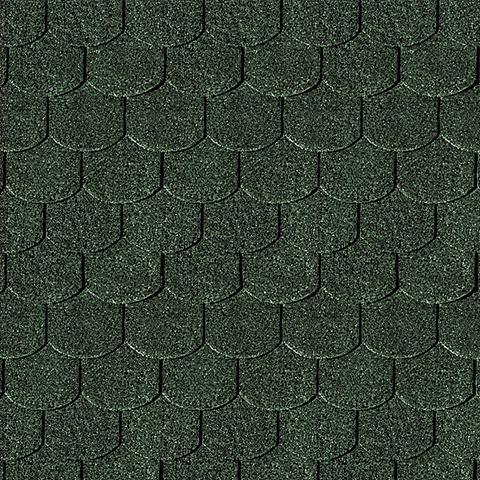 Biberschwanz-Dachschindeln grün
