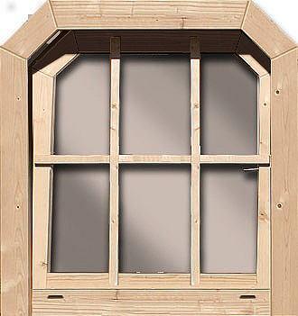 Окно 79 cm ширина Fichtenholz