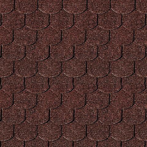Biberschwanz-Dachschindeln красный