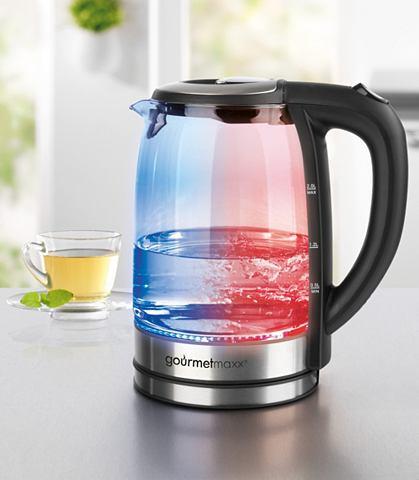 Стеклянный чайник с LED-Farbwechsel 2 ...