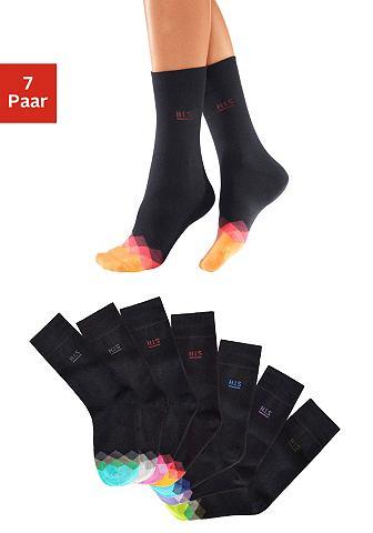 Черного цвета носки (7 пар) с bunt gem...