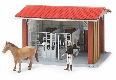 ® Reitstall с Статуэтка Pferd и St...