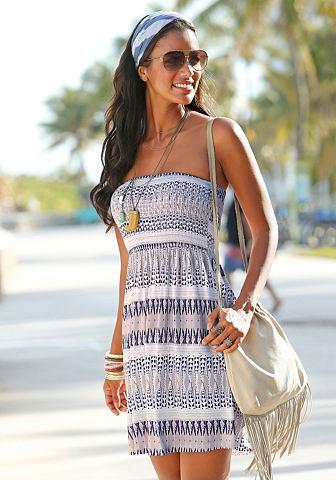 Платье-бандо пляжное