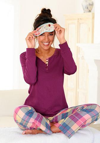 Пижама с клетчатый фланель штаны &...