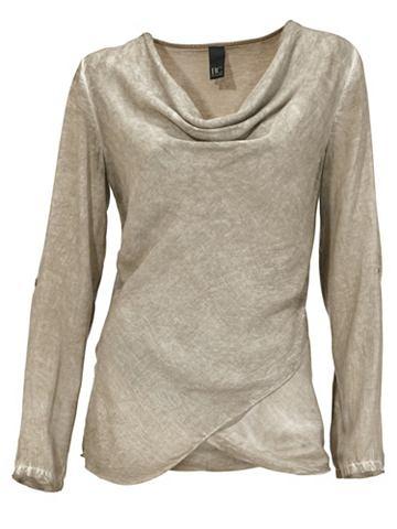 Блузка на выпуск с Oil Dyed имитация т...