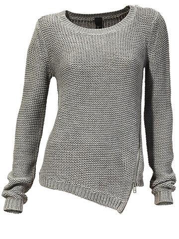 Пуловер с круглым вырезом asymetrisch