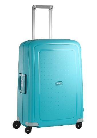 Пластиковый чемодан на колесах с 4 кол...