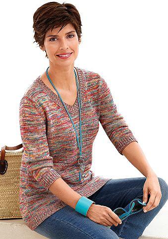 Пуловер из effektvollem Melange-Garn
