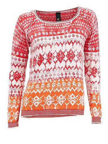 heine CASUAL Пуловер с круглым вырезом с сочетание ...